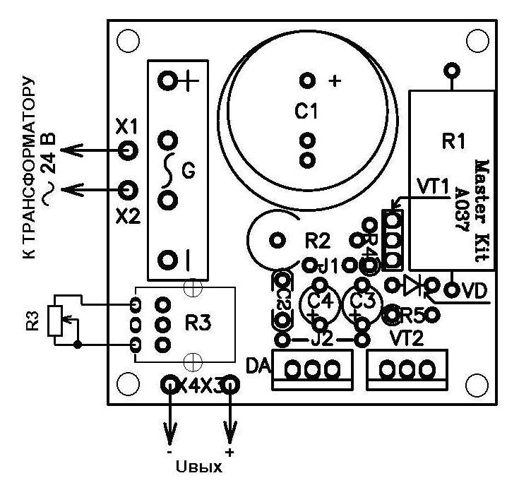 Схема монтажная NK037