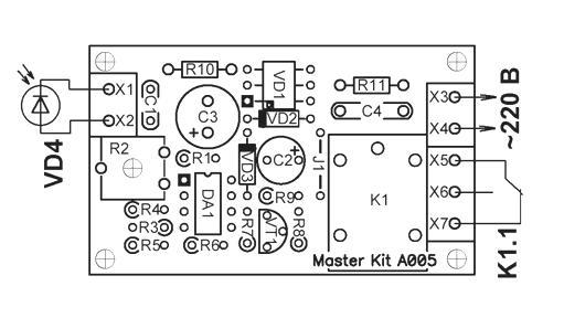 Схема монтажная NK005.