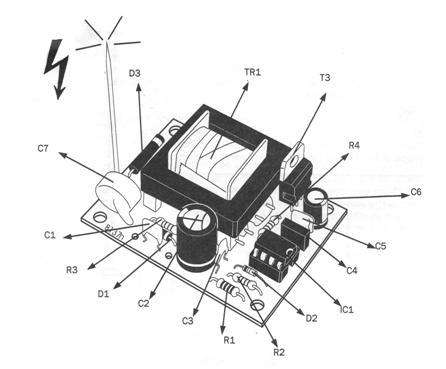 электрическая схема линии