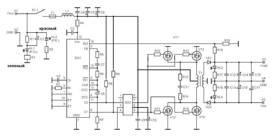 Схема электрическая принципиальная NM1025.