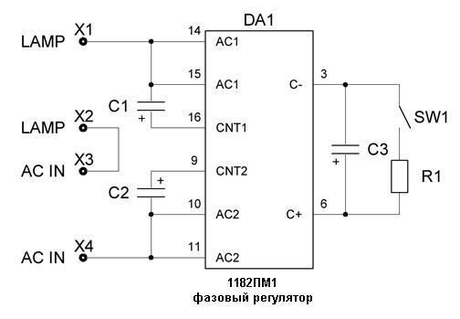 Плавный пуск ламп - блок защиты - База схем.