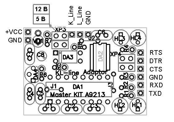 Адаптер автомобильный схема электрическая.